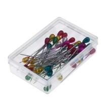 """50pcs 2.17"""" Colorful Round Pearl Straight Head Pins Embroidery Sewing Pins"""