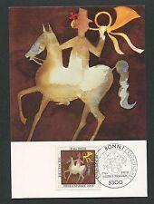 BRD MK 1983 TAG DER MARKE PFERD HORSE MAXIMUMKARTE MAXIMUM CARD MC CM d4681
