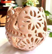 New Ceramic Vase Planter Pot Girl Soft Pink Coral Potpourri Bathroom Decor Beach