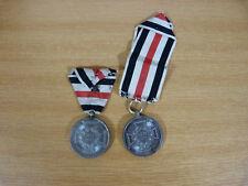 2 x Denkzeichen, 1870-71, Erinnerungs Medaille für Zivilisten