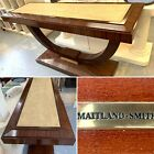MAGNIFICENT MAITLAND SMITH MACASSAR EBONY CONSOLE WITH SHAGREEN TOP