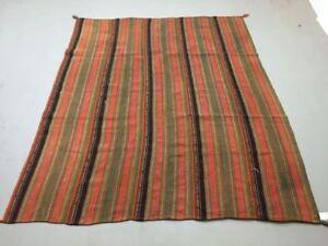Vintage Turkish Kilim Rug shabby vintage old wool country Kelim 240x193 cm Large