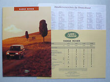 Prospetto Range Rover 4.6 v8/4.0 v8/2.5 DSE, 1994, 12 pagg. + PREZZI + händlerverz