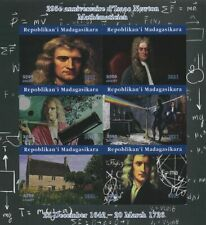 More details for madagascar 2021 mnh science stamps isaac newton physics astronomy 6v impf m/s