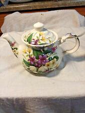 Beautiful Sadler Tea Pot-Name Embossed & Stamped On Bottom-Floral Decoration-Eng