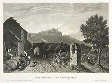 GEISENHEIM - SCHLOSS JOHANNISBERG - Meyer's Universum - Stahlstich 1836