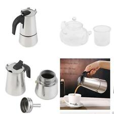 Clear Heat Resistant Glass Teapot with Infuser Percolator Stove Top