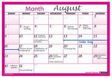Month Planner Desk Wall A4 Monthly Planner Double Sided Homeoffice Grey