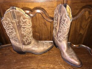 Dan Post Womens Western Cowboy Boots Brown Leather DP22232 Size 9M