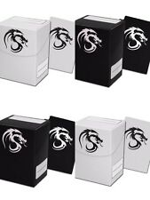 10 BCW 80 Card Deck Boxes Cases with 800 Deck Sleeves Black or White Dragon MTG