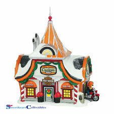 Department 56 North Pole Village 4042401 Harley Davidson Shop