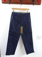 BNWT Pure Collection smart dark blue cotton/poly cropped jean/ trouser size 10
