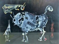 BULLFIGHTING. MIXED TECHNIQUE ON PAPER. SIGNED PACHECO. SPAIN. 1960