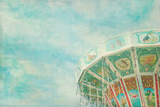 STUNNING RETRO VINTAGE CAROUSEL CANVAS #565 QUALITY FAIRGROUND PICTURE WALL ART