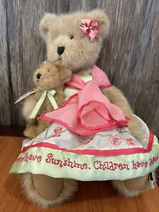 Boyds Bears Plush Momma Bearsworth With Lil' Blossom 🧸