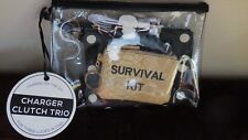 NWT Nordstroms UNDER ONE SKY 4 piece Survival Kit w/charger Key ring Pouches