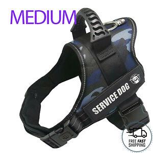 Dog Harness M Adjustable Reflective No Pull No Choke Outdoor Vest Service Pet NB