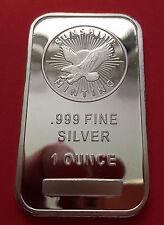 1 oz Silver Bar - Sunshine Mint .999% Fine Silver - Silver Eagle Logo