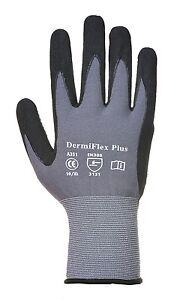 Portwest A351 Dermiflex Plus Safety Work Wear Gloves - PU/Nitrile Foam