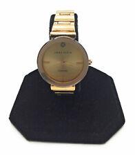 Anne Klein Womens AK/2434CHGB Diamond Dial Goldtone Polished Bracelet Watch 28mm