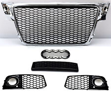 RS4 Look Grill Für Audi A4 B8 8K Limo Avant Kühlergrill Wabengrill Frontgrill -9