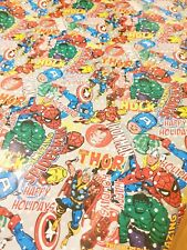 Retro Marvel Super hero Gift Wrap Wrapping Paper Christmas