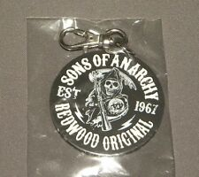 Limited Edition Sons of Anarchy Keyring Keychain Redwood Original Logo NEW MEZCO