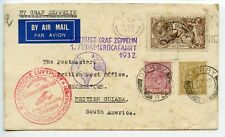 ZEPPELIN Great Britain 1932 1st South America flight 2/6 seahorse British Guiana