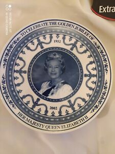 Wedgwood Queens Golden Jubilee Plate Daily Mail Queen's Ware Boxed