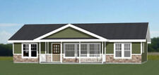 46x30 House -- 4 Bedroom 2 Bath -- PDF Floor Plan -- 1,338 sq ft -- Model 1C