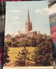 NORWICH CATHEDRAL  Posted 1959. SUFFOLK POSTCARD