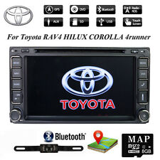 "7"" Stereo 2DIN Radio Car CD DVD Player Screen Mirror GPS for TOYOTA RAV4 Corolla"