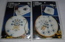New Vogart Bouquet Napkins & Placemats For Embroidery or Paint Floral Flowers