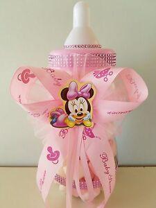 "Minnie Mouse Centerpiece Bottle Large 14"" Baby Shower Piggy Bank Girl Decoration"