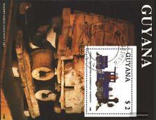 Guyana Block34 (kompl.Ausg.) gestempelt 1989 Eisenbahn