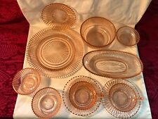 Vintage Queen Mary Pink Depression Glass LOT