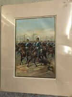 Antique 1899 Cavalry Lithograph Print-Calvary on the March-Werner Company