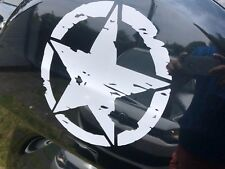 Army star military star vinyl sticker / Decal 200mmx200mm white color