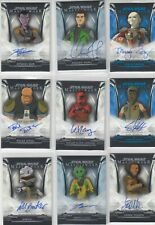 2019 Star Wars Masterwork Autograph Lot 11 Auto Cards Clone Wars Rebels