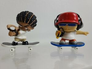 Rare Tech Deck Dudes - Blind Mixmaster And Slingshot With Magnetic Boards