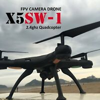 X5SW -1 Black Wifi RC Quadcopter Drone with HD Camera RTF UAV ARF DRONE FPV 2.4G