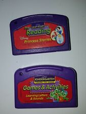 Lot of 2 Leap Frog Learning Game Cartridges , reading/princess stories & games