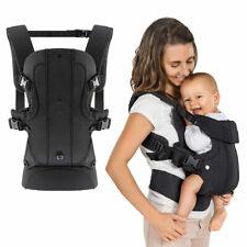 Ergonomische Babytrage Kindertrage Bauchtrage Rückentrage - Walk 4in1 - Schwarz
