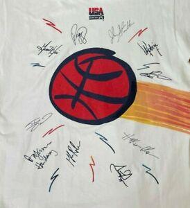 Vintage 1996 Dream Team USA Basketball t shirt single stitch Post size XL