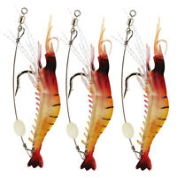 Luminous Shrimp Fishing Lure with Hook Fishing Tackle, Freshwater/Saltwater Lot