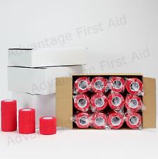 Cohesive Elastic Bandage RED. Sport, Equestrian,Tattoo & Veterinary. Various.