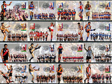 1996 Centenary of AFL Set of 16 Maxi Cards Prepaid Postcard Maxicards Stamps