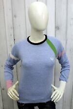 FRED PERRY Taglia L Maglione Donna Sweater Lana Pullover Pull Casual Woman