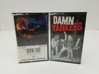 Rock Cassette Tapes Lot of 2 Ted Nugent & Damn Yankees Self Titled Stranglehold