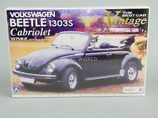 Aoshima 1/24 Volkwagen Scarabée Cabriolet 1303s Maquette en PLASTIQUE -scellé